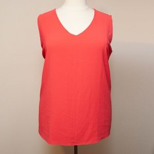 Gibson Bright Coral Blouse in 3X